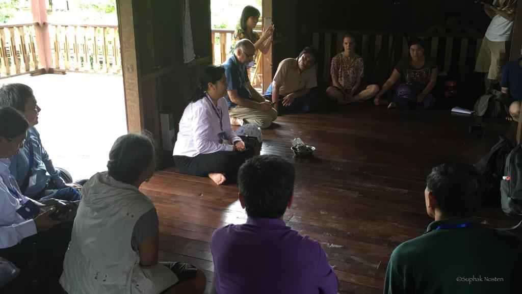 Meeting with village authority and villagers to learn about MDA experiences of villagers
