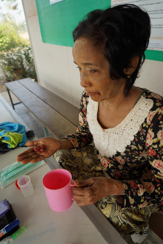 Every day, all TB patients take their drugs under kind but careful supervision of healthworkers