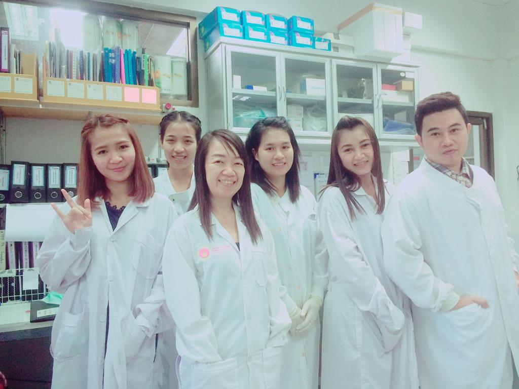 Malaria In Vitro lab staff