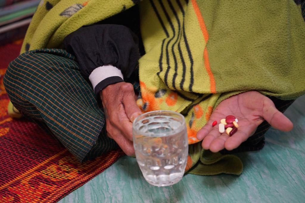 Patient taking medication for tuberculosis