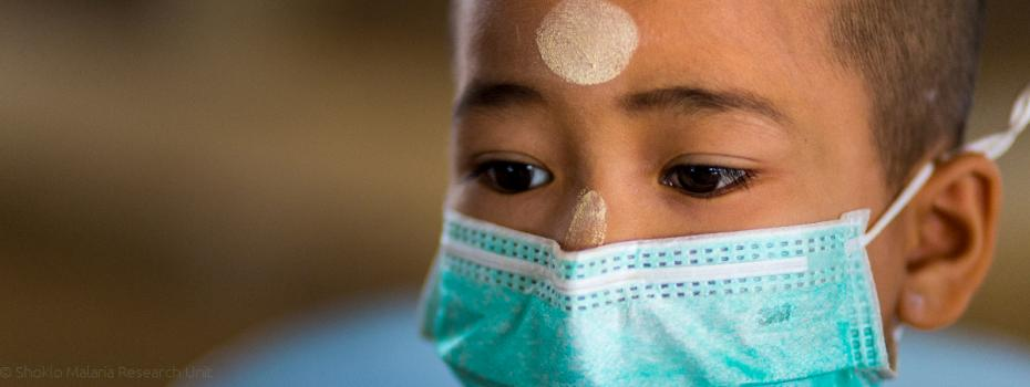 Youth TB patient with mask
